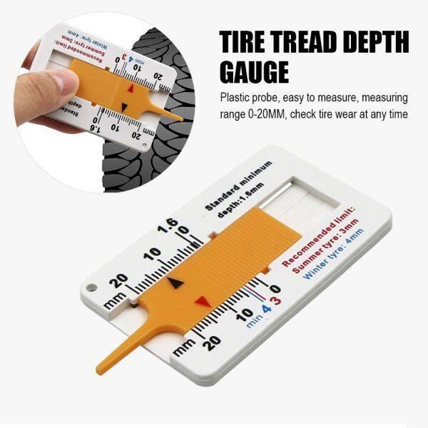 GUOPOKA Sửa chữa Xe máy Cung cấp đo lường Công cụ đo bánh xe Phụ kiện xe hơi Công cụ đánh dấu Độ sâu lốp xe ô tô Chỉ báo độ sâu Đo độsâu Thước đo độ sâu mẫu lốp