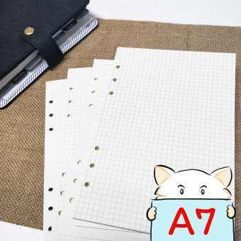 [ขนาด A7] กระดาษรีฟิล 6 รู ⭐️  Grid / Dot / Line / Blank Planner Refill Paper by mimisplan