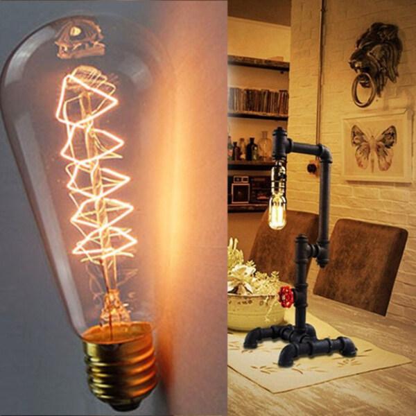 NANCHENG CAMERAS 1 PC Màu trắng ấm áp Đầu nối vít Bóng đèn Trang trí Sợi đốt cổ Thủy tinh Đèn Edison Dây tóc Bóng đèn cổ điển Retro