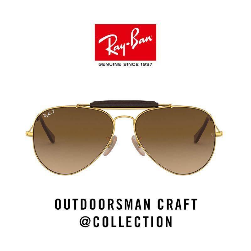 Ray-Ban Outdoorsman Sunglasses- 0rb3422q 001/m2 เเว่นตากันเเดด Rayban.