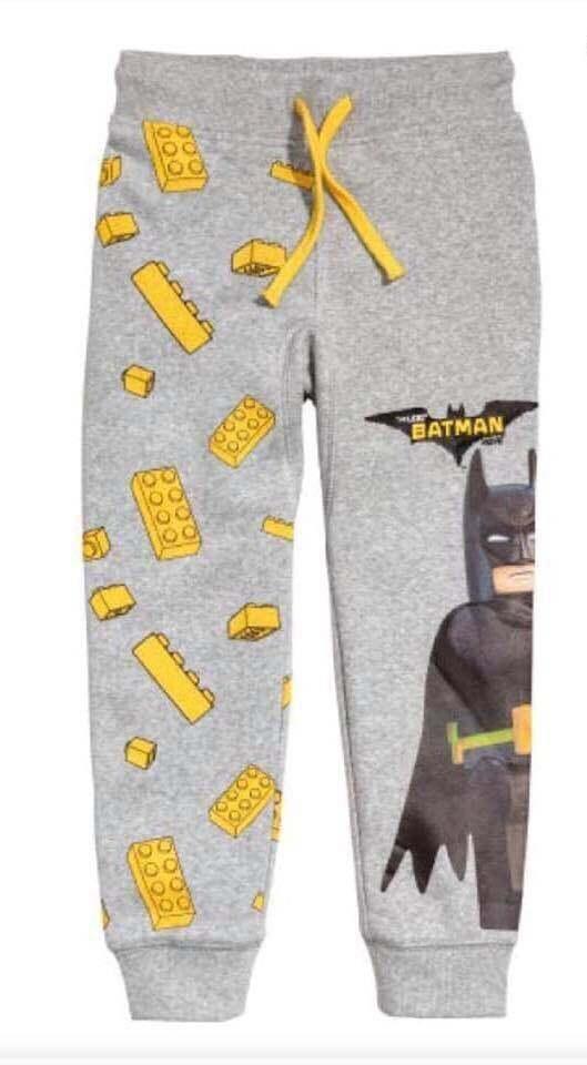 กางเกง กางเกงวอร์ม กางเกงขาจั้ม ผ้าสำลี นิ่ม ใส่สบาย ลายการ์ตูน เชือกเอวรูดได้จริง ( ลาย Batman )
