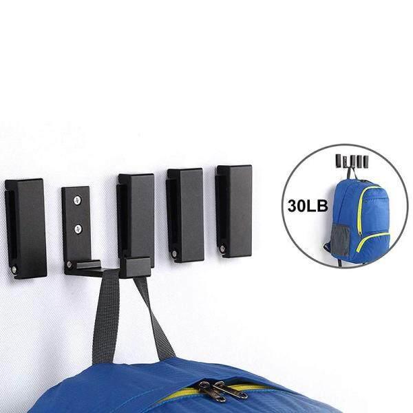 Foldable Hook, Heavy Duty Hook Super Waterproof Hanger for Robes, Coats, Towels, Keys, Bags, Home, Kitchen, Bathroom (Set Of 5) (Black)