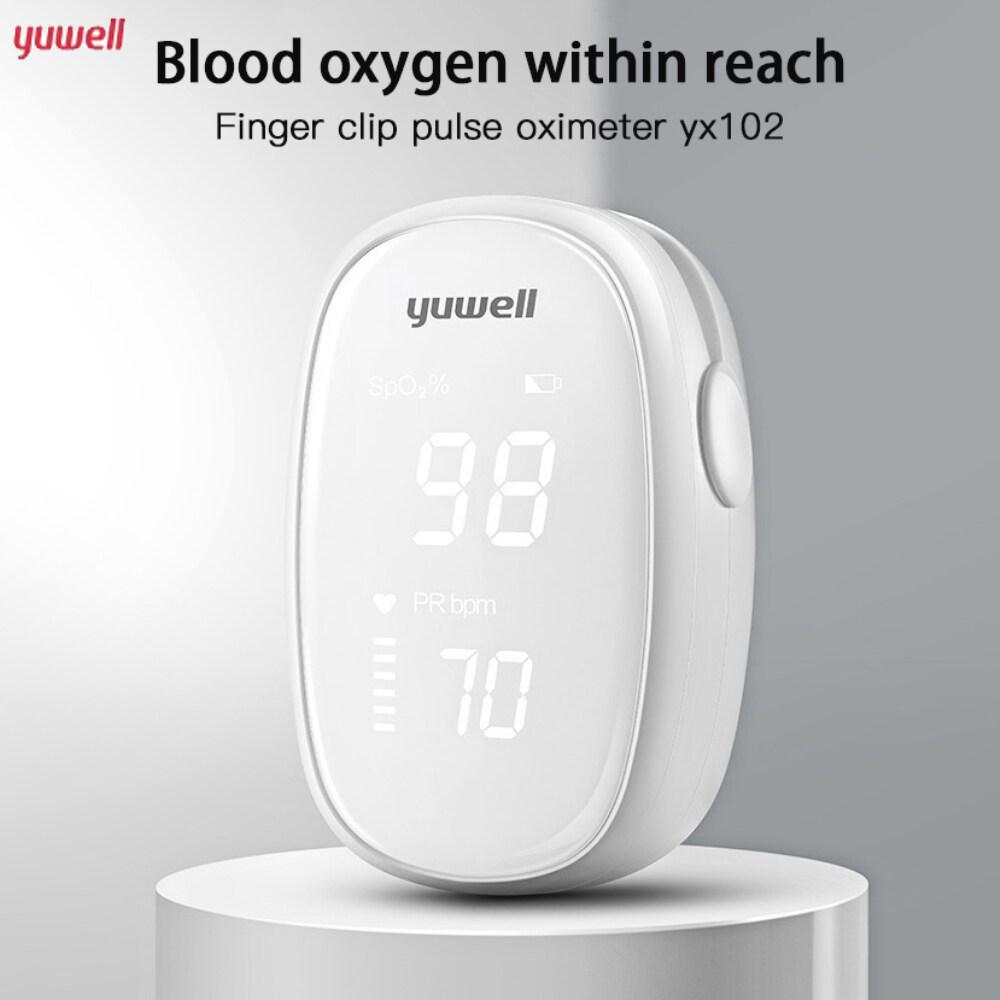 【ON SALE】Yuwell Ban Đầu YX102 Kỹ Thuật Số Fingertip Pulse Oximeters Oxy Trong Máu SpO2 Màn Hình, Cảm Biến Tốc Độ Cao Tự Động Tắt Nguồn