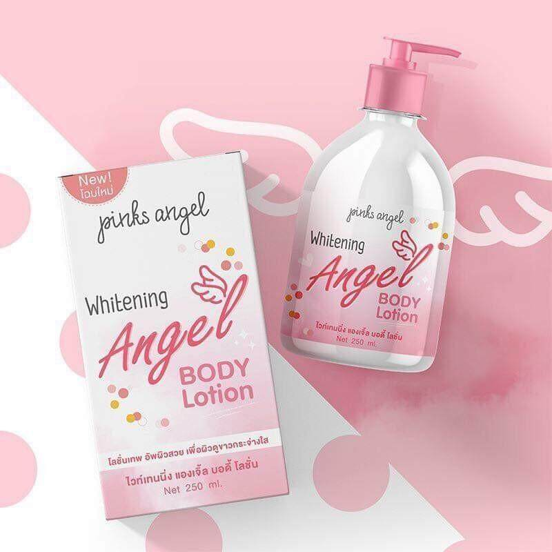 Whitening Angel Lotion Pink Angel โลชั่นทาผิวขาว พิ้งแองเจิ้ล 1 ขวด มีขนาด 250 Ml..