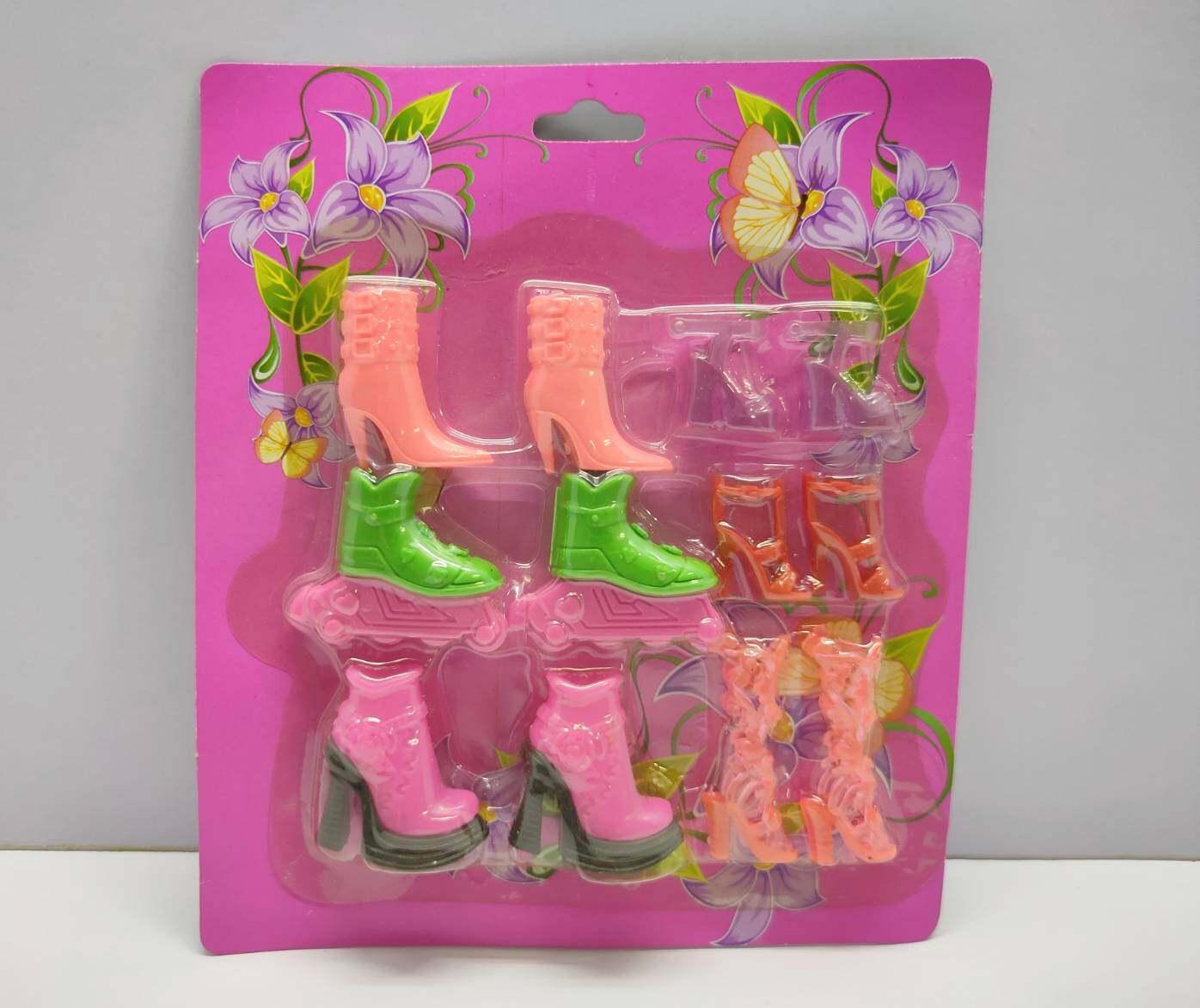 รองเท้าตุ๊กตาคละแบบ คละสี แผงx6.