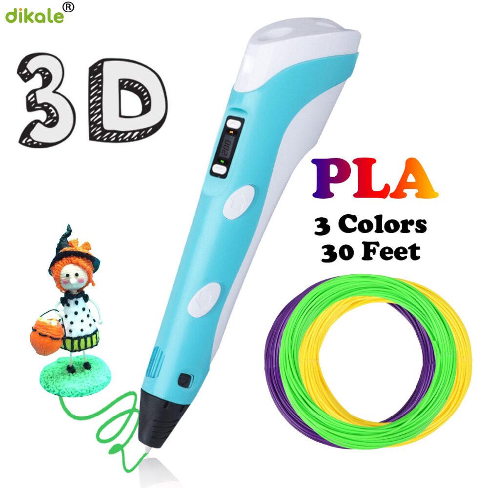 【ส่งจากกรุงเทพ】ปากกาเครื่องพิมพ์ 3 มิติ 3d Printer Pens 3d Printing Pen Three D Printer Pen For Drawing With Plastic Pla/abs Filament Creativity Gift Original Gifts 3d Print Pen Drawing 3 มิติ.