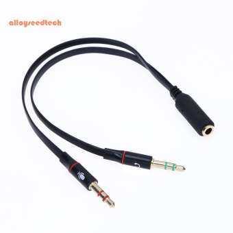 〔alloyseedtech〕3.5 มม. 1 ถึง 2 สายออดิโอ Single - Hole หูฟังคอมพิวเตอร์ตัวแปลงไมโครโฟน