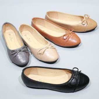 FAIRY รองเท้า 999-28 รองเท้าหุ้มส้น  แฟชั่นส้นแบบ รองเท้าหนังนิ่ม