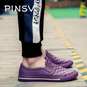 PINSV ผู้หญิงรองเท้าแฟชั่นสบาย ๆ ระบายอากาศแฟลตรองเท้าโลฟเฟอร์-