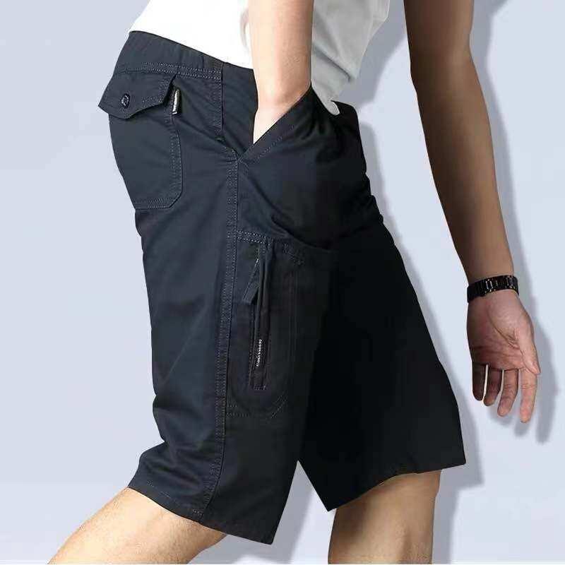 กางเกงขาสั้นชาย (พร้อมส่ง) ผ้าฟอก 28-42รวมสีขายดี Set 1 ผ้าดี สีไม่ตก งานห้าง ทรงสวย.