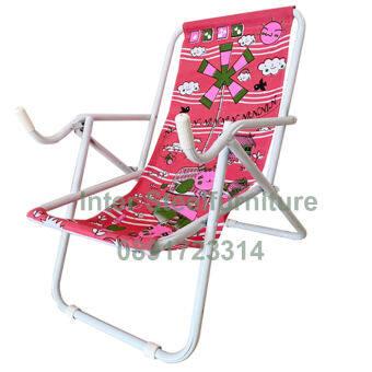 Inter Steel เก้าอี้ชายหาด รุ่น Seaview chair โครงเหล็กสีขาว