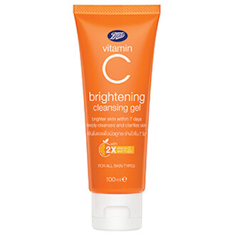 Boots Vitamin C Brightening Cleansing Gel บู๊ทส์ วิตามิน ซี ไบรท์เทนนิ่ง คลีนซิ่ง เจล (100 Ml).