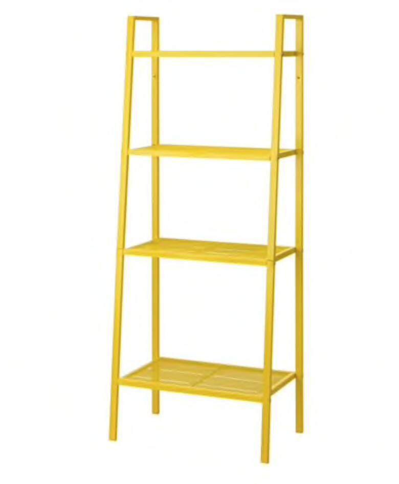 ชั้นวางของ 4 ชั้น 60x148 ซม. 3สี เหลือง , เทาเข้ม , ขาว Ikea (อีเกีย).