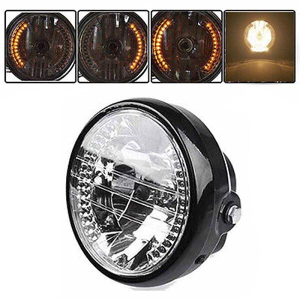 Đèn pha tích hợp báo tín hiệu rẽ dùng LED kích thước 7inch cho xe motor YUAN - INTL