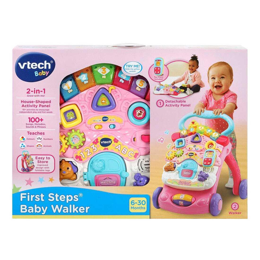 Pink VTech First Steps Baby Walker