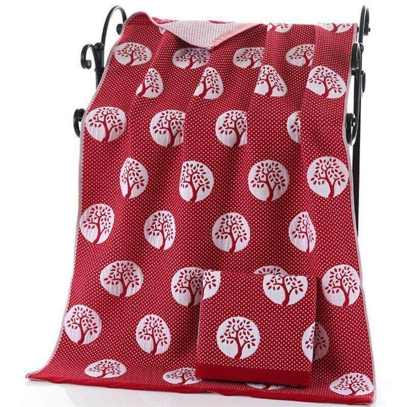 ผ้าเช็ดตัวสาลู ผ้าขนหนู ผ้าขนหนู สาลู ขนาด 70*140cm By Thai Star.