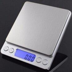 ราคา เครื่องชั่งดิจิตอลแบบพกพา ความละเอียด 01G Professional Digital Table Top Scale 500Gx0 01G Silver ไทย