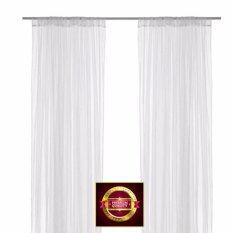 ขาย มุ้งผ้าม่าน ผ้าม่านโปร่ง 1 คู่ สีขาว 280X250 ซม ออนไลน์ กรุงเทพมหานคร