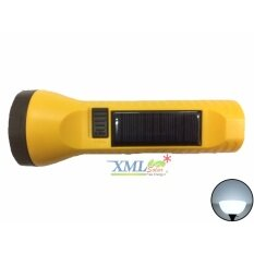 ซื้อ ไฟฉายโซล่าเซลล์อเนกประสงค์ 2 Led สีเหลือง เเสง สีขาว ออนไลน์