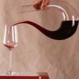 ราคา ราคาถูกที่สุด 1 Pc New Fashion Crystal Glass U Shaped Horn Wine Decanter Wine Pourer Wine Container Intl
