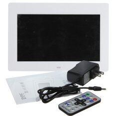 ซื้อ 10 2 Tft Lcd กรอบรูปดิจิตอลภาพเคลื่อนไหว Mp4 ผู้เล่นนาฬิกา รีโมทเย็นสีขาว Unbranded Generic ออนไลน์