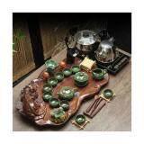 ส่วนลด สินค้า ชุดชาจีน สำหรับชงชา ครบเซต สำหรับ 10 ท่าน รวมอุปกรณ์ 27 ชิ้น พร้อมเตาไฟฟ้า