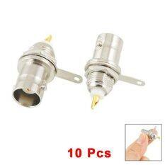 ขาย ซื้อ 10 Pcs Bnc Female Nut Bulkhead Solder Rf Coax Connector Adapters Intl ใน Thailand