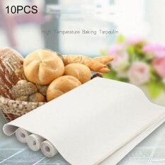 ซื้อ 10 Pcs Cuttable Reusable High Temperature Resistance Anti Stick Baking Tarpaulins Size 40X60Cm Random Color Delivery Intl