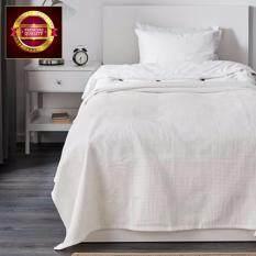 ซื้อ ผ้าฝ้าย 100 สำหรับคลุมเตียง ผ้าคลุมเตียง สีขาว 150X250 ซม ออนไลน์ ถูก