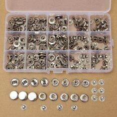 โปรโมชั่น 100 Sets 15Mm Silver Snap Fasteners Popper Press Stud Button Leather Tool Kit Intl ใน จีน