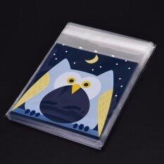 100 ชิ้นน่ารักสัตว์ Candy ห่อขนมเค้ก Self - กาวกระเป๋าของขวัญ Party Owl 7 เซนติเมตร * 7 เซนติเมตร + 3 เซนติเมตร - Intl By Mimar Upup.