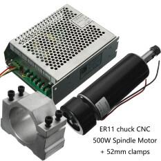 ขาย 100 โวลต์ Dc Er11 Cnc 500 วัตต์มอเตอร์ทำความเย็นแบบแกนหมุน 52 มิลลิเมตร Clamps ผู้ควบคุมความเร็ว ใน จีน
