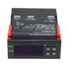 ซื้อ 10A 12V Digital Temperature Controller Thermocouple 40�C To 120�C With Sensor Intl Unbranded Generic ถูก