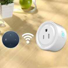 ขาย 10A Round Shape Wifi Mini Plug App Remote Control Timing Smart Socket Works With Alexa Ac 100 240V Us Plug Intl