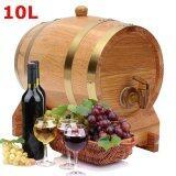10L Vintage Oak Wood Barrel Keg For Wine Spirits Whisky Port Liquor French Toast Intl เป็นต้นฉบับ