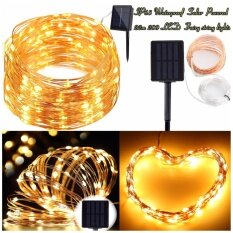 ขาย ไฟประดับตบแต่งพลังงานแสงอาทิตย์10M 100Led Micro Rice Wire ลวดทองแดง Fairy String Solar Led เป็นต้นฉบับ