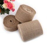 ส่วนลด สินค้า 10M Natural Hessian Jute Burlap Fabric Gift Elegant Wrapping Ribbon Table Runner 5Cm Intl