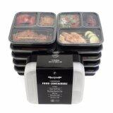 ขาย 10Pcs 3 Compartment Food Storage Containers With Lids Bento Box Lunch Box Picnic Food Storage Box Microwave And Dishwasher Safe Intl Partever