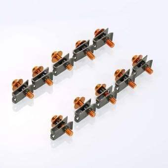 10 อลูมิเนียม pcs M5 สลักเกลียวยึดกับแผ่นโลหะคลิปเข็มขัดสกรูสำหรับรถจักรยานยนต์ - INTL