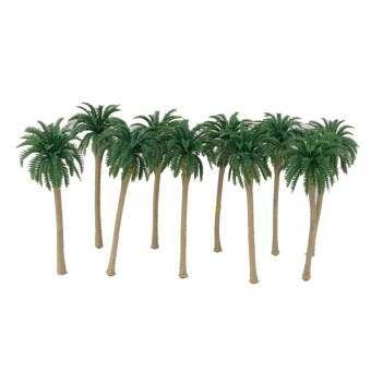 10 ชิ้นต้นมะพร้าวสีเขียวรุ่น 1/100 11 เซนติเมตร