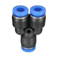 ขาย ซื้อ ออนไลน์ 10Pcs Pneumatic Push In Fittings For Air Water Hose Tube Connector 6Mm Y Shape Intl