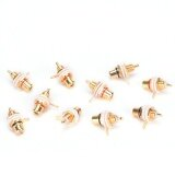 ราคา 10Pcs Rca Female Chassis Panel Mount Jack Socket Connector 24K Gold Plated Intl ที่สุด