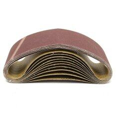 ราคา 10Pcs Red Abrasive Sanding Belts Paper Grit 100X610Mm For Light Metal Woodwork Intl Unbranded Generic เป็นต้นฉบับ