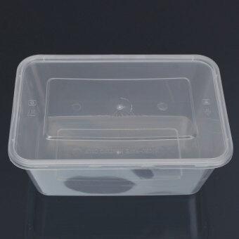 10 x อ่างล้างภาชนะพลาสติกมีฝาตู้ไมโครเวฟอาหารกล่องอาหาร 500 มล. - intl