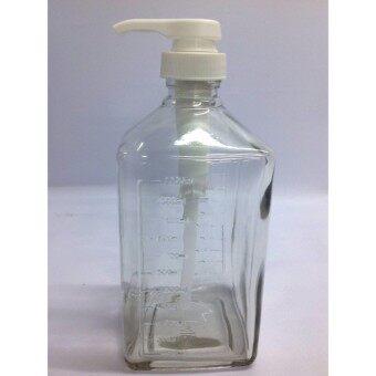 ขวดใส่น้ำเชื่อม หัวปั๊ม 1100 ml