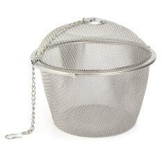 ซื้อ 11Cm Stainless Steel Tea Ball Infuser Filter Leaf Leaves Spice Herb Mesh Strainer Intl ถูก