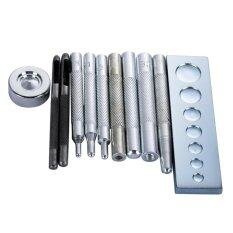 ขาย 11Pcs Die Punch Hole Snap Rivet Button Setter Base Kit For Diy Leather Tool Intl ราคาถูกที่สุด