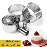 ราคา 11X Stainless Steel Round Circle Cookie Biscuit Cutter Fondant Cake Paste Mould Intl Unbranded Generic ใหม่