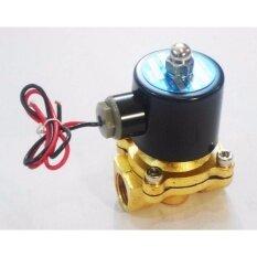 โซลินอยด์วาล์วทองเหลือง 1/2 นิ้ว 12vdc แบบปกติปิด จ่ายไฟเปิด ( Nc ) By Thaiwatersystem.