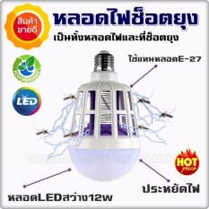 โปรโมชั่น หลอดไฟไล่ยุง สามารถล่อยุงเข้ามาแล้วช็อตได้ ขนาด 12 วัตต์ เป็นหลอด Led ความสว่าง 900 ลูเมน คุ้มที่สุด เป็นทั้งหลอดไฟและที่ช็อตแมลง ใช้งานง่ายแค่ใส่เหมือนหลอดปกติ กรุงเทพมหานคร